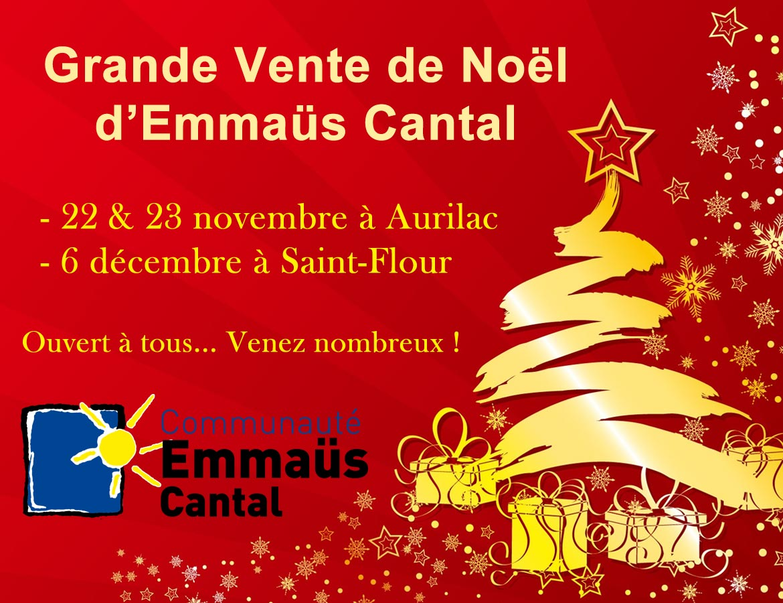 Vente Noël Emmaüs 2015