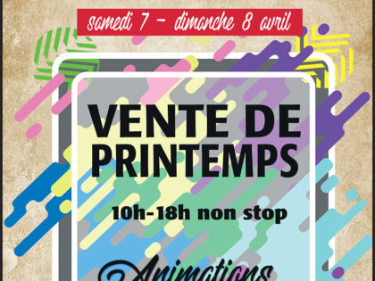 Vente de Printemps – Avril – Emmaüs Cantal – Aurillac
