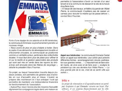 2019, une année forte pour Emmaüs Cantal