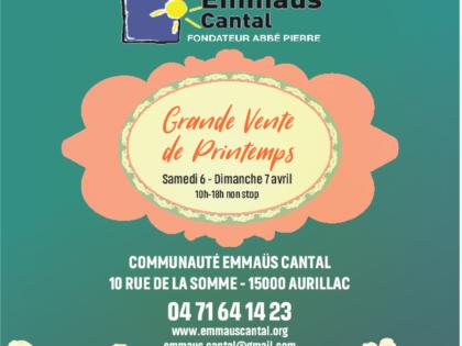 Grandes Ventes de Printemps chez Emmaüs Cantal