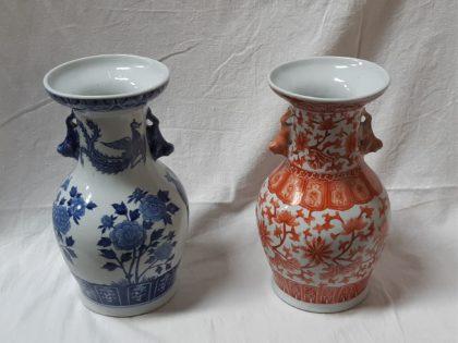 Lot de 2 vases en porcelaine